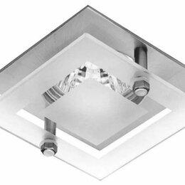 Встраиваемые светильники - Светильник MR16 со стеклом GU5.3 50W, 0