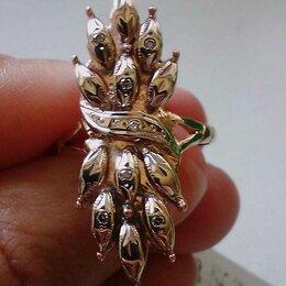 Комплекты - Золотое кольцо с бриллиантами, 0