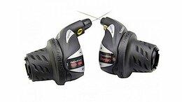 Манетки и шифтеры - Шифтер левый+правый SHIMANO Tourney RS36 3x7 ск, 0