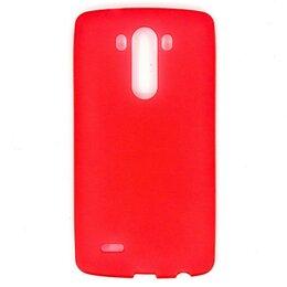 Чехлы - Силиконовый чехол для LG G3 (красный), 0