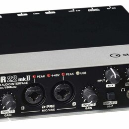 Оборудование для звукозаписывающих студий - Steinberg UR22 MK II звуковой USB-интерфейс, 0