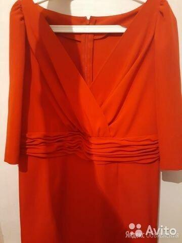 Красное платье с рукавами в драпировку по цене 500₽ - Платья, фото 0