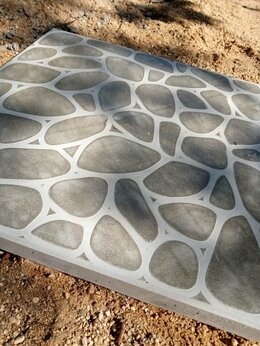 Тротуарная плитка, бордюр - Плитка бетонная 40-40-4, 0