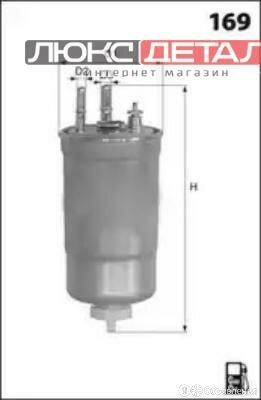 LUCAS LFDF184 ФИЛЬТР ТОПЛИВНЫЙ RENAULT FLUENCE 10-  по цене 1353₽ - Двигатель и топливная система , фото 0