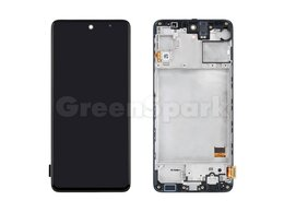 Дисплеи и тачскрины - Дисплей для Samsung M317F Galaxy M31s в рамке +…, 0