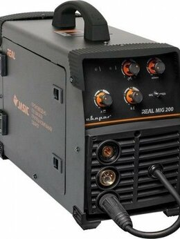Аксессуары и комплектующие - СВАРОГ REAL MIG 200 (N24002N) BLACK (МАСКА+КРАГИ), 0