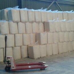 Сено и наполнители - Стружка древесная прессованная брикет 22 кг 600х400х470 сухая 6-8 %, 0