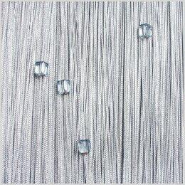Шторы - Нитяные шторы Vershtor однотонные стальные с кубиками на кулиске плотные, 0