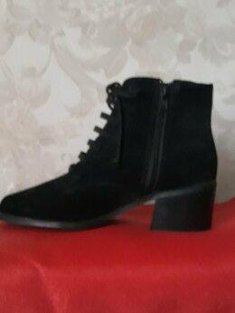 Ботинки - Ботинки замшевые р.40, 0