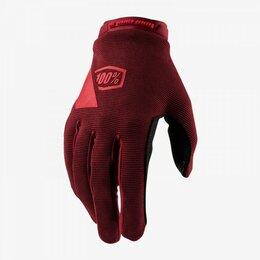 Другие тренажеры для силовых тренировок - Велоперчатки подростковые 100% Ridecamp Youth, красный, 2020 (Размер: L ), 0