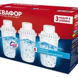Фильтры для воды и комплектующие - Картридж Аквафор B100-5 для кувшинов ресурс:300л (упак.:3шт), 0