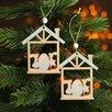 Набор декоративных подвесок «Пасхальные зайчики в домике» 2 шт., 1×10×13 см по цене 123₽ - Люстры и потолочные светильники, фото 0
