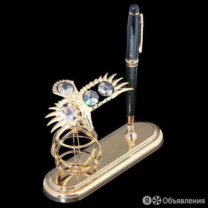Ручка на подставке 'Орёл', 9x15x13,5 см, с кристаллами Сваровски по цене 4818₽ - Упаковочные материалы, фото 0