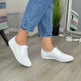 Мокасины - Слипоны на шнурках, новые , 0