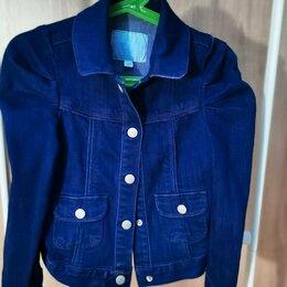 Куртки и пуховики - Джинсовая куртка на девочку, 116 см., 0