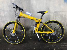 Велосипеды -  Велосипед литой GREEN R26 Желтый, 0