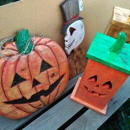 Статуэтки и фигурки - Декор на Хеллоуин из дерева, 0