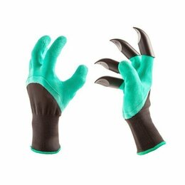 Мини-инструменты - Перчатки садовые с когтями, 0