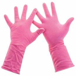 Средства индивидуальной защиты - Перчатки латексные с х/б напыл, размер M, 0