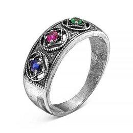 """Свадебные украшения - Кольцо посеребрение с оксидированием """"Светофор"""", 19 размер, 0"""