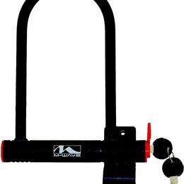 Замки - Велосипедный замок M-WAVE, U-lock, на ключ, 105 х 255 мм, с защитным колпачком, 0