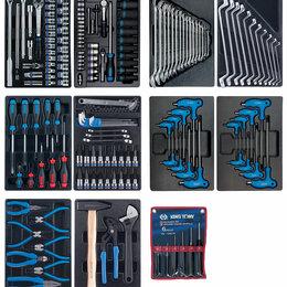 Инструментальные тележки - Набор инструментов для тележки, 10 ложементов, 173 предмета KING TONY 932-0, 0