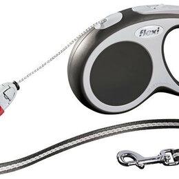 Поводки  - FLEXI рулетка VARIO M (до 20 кг) 8 м трос антрацит , 0