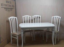 Столы и столики - Стол РПО и стулья Веер жесткий (массив бука), 0