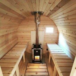 Готовые строения - Изготовим баню-бочку от 2 до 6 метров в срок. , 0