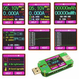 Инструменты - USB тестер UM24C с цветным экраном и bluetooth, 0