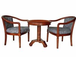 Кресла - Чайное кресло с подлокотниками, круглый чайный…, 0