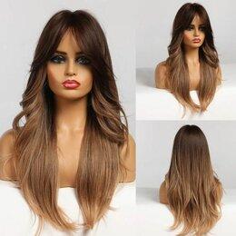 Аксессуары для волос - Парик длинный с челкой Блонд Омбре, 0