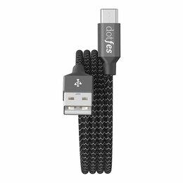 Зарядные устройства и адаптеры - Кабель USB - TYPE-C DOTFES A06T Dual color…, 0