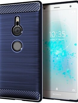 Чехлы - Чехол на Sony Xperia XZ2 цвет Blue (синий),…, 0
