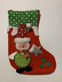 Новогодний декор и аксессуары - Action Club Рождественский носок снеговик со…, 0