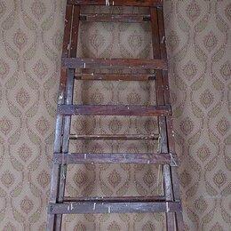 Лестницы и стремянки - Лестница раздвижная деревянная 3 метра , 0
