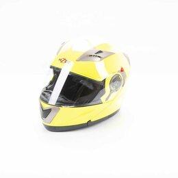 Мотоэкипировка - Шлем мото HIZER (Хайзер) 625 (L) #2 lemon green, 0