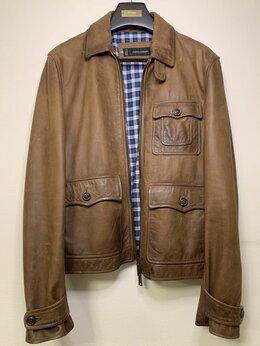 Куртки - Кожаная Байкерская куртка DSQUARED2, 0