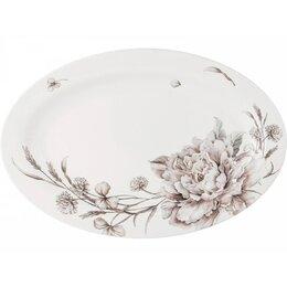 Блюда, салатники и соусники - Блюдо Lefard White flower 26,5х18см овальное,белый,фарфор, 0