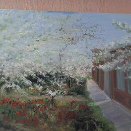 Картины, постеры, гобелены, панно - Пейзаж сады вишневые тюльпаны улочки Таганрога, картина с натуры , 0