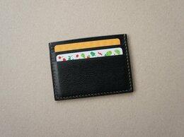 Визитницы и кредитницы - Компактный картхолдер кредитница натуральная кожа, 0