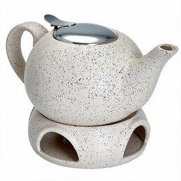 Заварочные чайники - Чайник заварочный с ситечком и подставкой Ф19-058R 750мл , 0