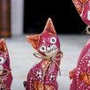"""Сувенирный набор дерево """"Красные кошечки"""" (20,15,12) 4х13х20 см по цене 1208₽ - Новогодние фигурки и сувениры, фото 2"""