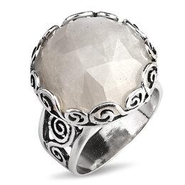 Кольца и перстни - Серебряное кольцо с лунным камнем, 0