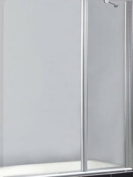 Шторы и карнизы - Шторка BelBagno SELA-V-11-120/140-C-Cr на ванну…, 0