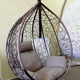 Подвесные кресла - Подвесное кресло КОКОН большой на стойке с подушкой, 0
