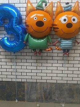 Воздушные шары - Детские шары Коржик и Компот и цифра№3 синяя, 0