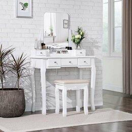 Столы и столики - Белый туалетный столик, 0