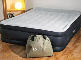 Надувная мебель - Надувной матрас кровать с насосом для сна Intex…, 0