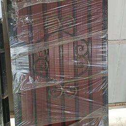 Заборы, ворота и элементы - Комплект ворота с калиткой с профнастилом без столбов 3,54-0,91-1,95, 0